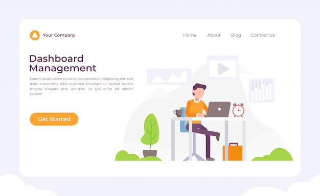 Pagina di destinazione gestione dashboard