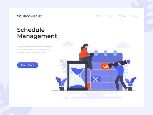 Pagina di destinazione gestione pianificazioni