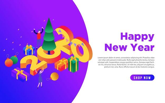 Pagina di destinazione happy new year 2020