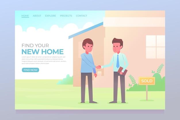 Pagina di destinazione immobiliare con uomini