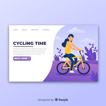 Pagina di destinazione in bicicletta