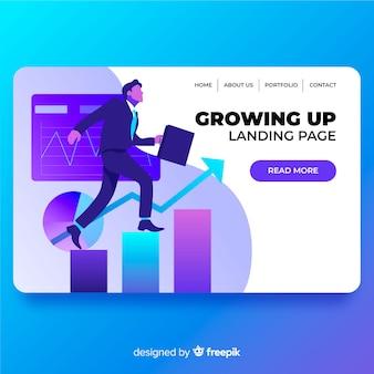 Pagina di destinazione in crescita