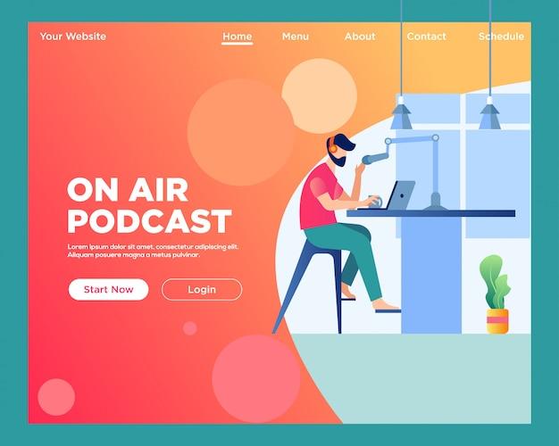Pagina di destinazione. in onda podcast