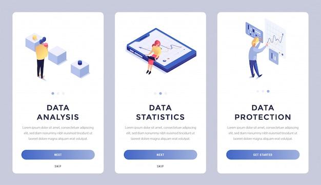 Pagina di destinazione isometrica dei dati