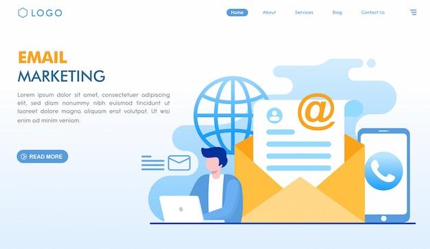 Pagina di destinazione marketing via email