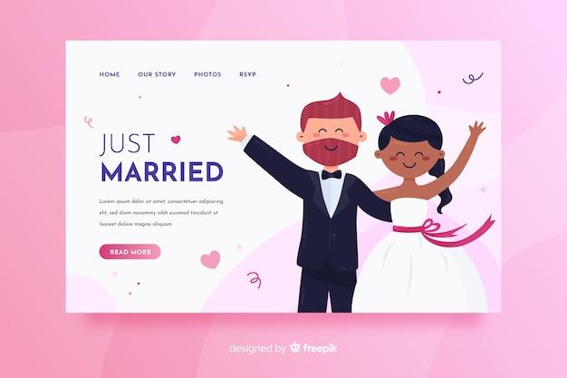 Pagina di destinazione matrimonio colorato