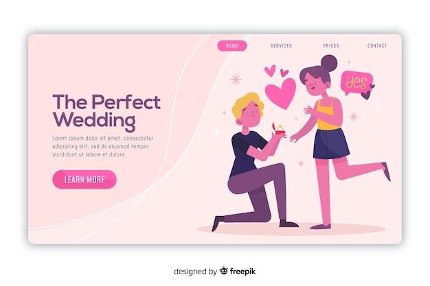 Pagina di destinazione matrimonio perfetto