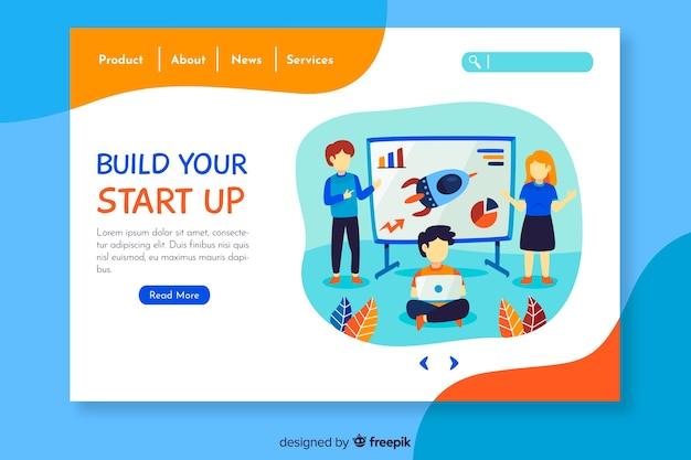 Pagina di destinazione modello aziendale