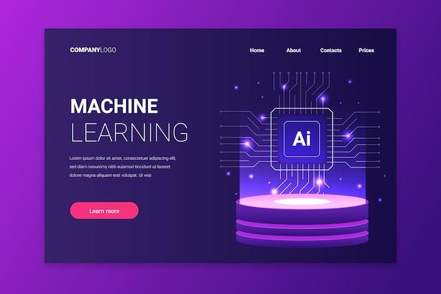 Pagina di destinazione modello intelligenza artificiale