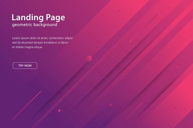 Pagina di destinazione modello moderno sfondo geometrico design, banner e manifesti futuristici