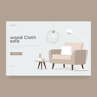 Pagina di destinazione moderna della decorazione interna domestica