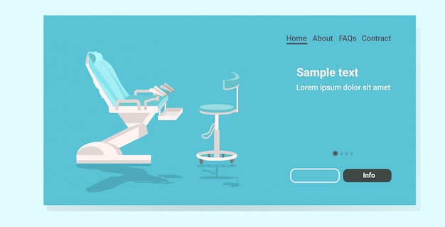 Pagina di destinazione moderna sedia ginecologica