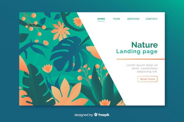 Pagina di destinazione natura con fiori