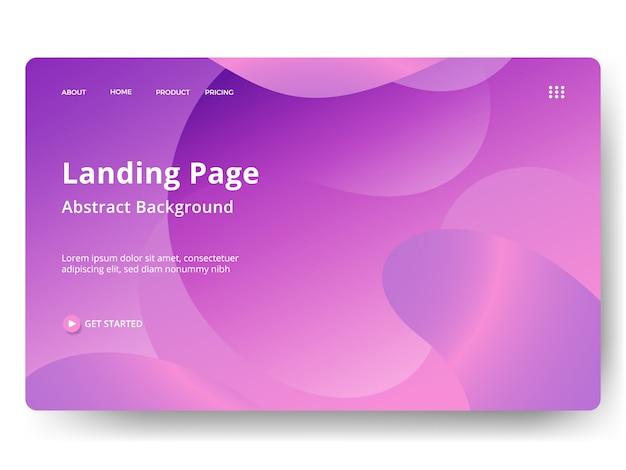 Pagina di destinazione o modello web nel moderno disegno astratto