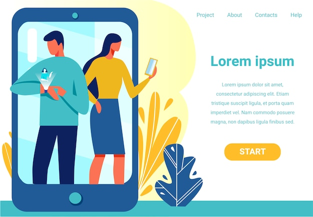 Pagina di destinazione offre un dispositivo per la connessione wireless