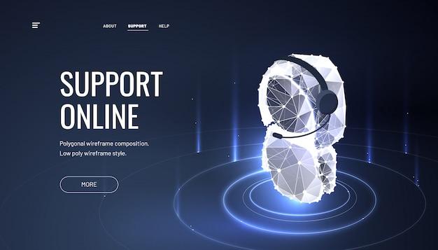 Pagina di destinazione online del servizio clienti