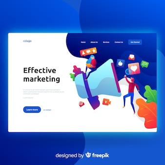 Pagina di destinazione per il marketing