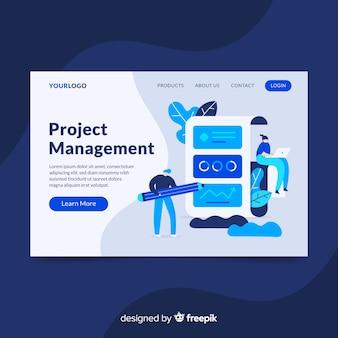 Pagina di destinazione per la gestione dei progetti