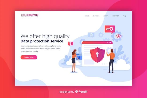 Pagina di destinazione per la protezione dei dati
