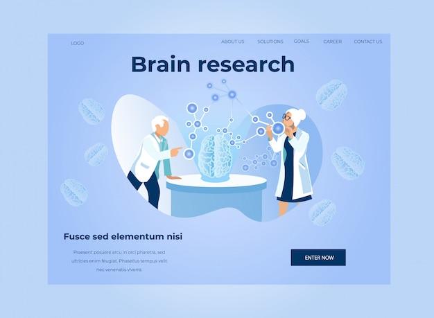 Pagina di destinazione per la ricerca cerebrale e l'analisi dei dati