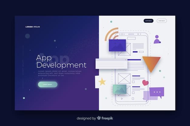 Pagina di destinazione per lo sviluppo di app
