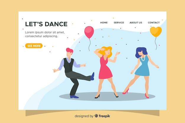 Pagina di destinazione per matrimoni di design piatto