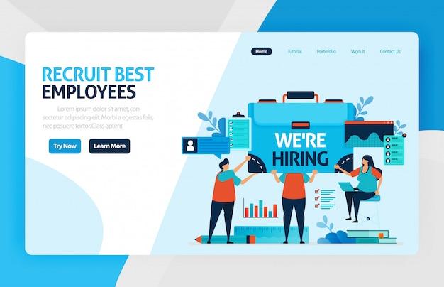 Pagina di destinazione per reclutamento di dipendenti