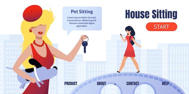Pagina di destinazione per search house e pet sitting