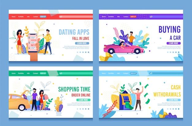Pagina di destinazione per servizi online che semplifica la vita