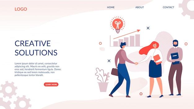 Pagina di destinazione per soluzione creativa e innovativa