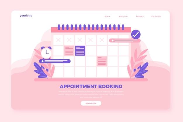 Pagina di destinazione prenotazione appuntamenti