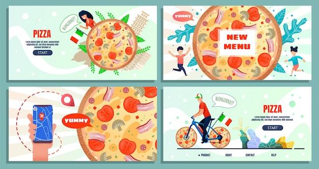 Pagina di destinazione pubblicitaria per viaggi culinari in italia