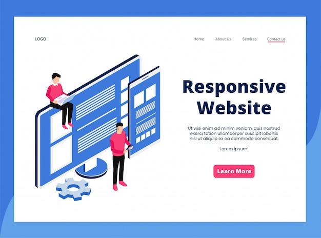Pagina di destinazione responsive del sito web