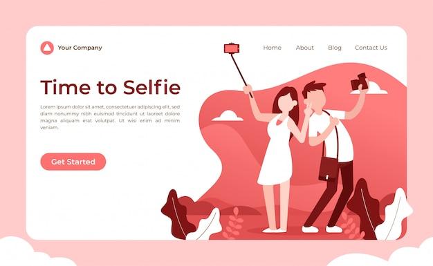 Pagina di destinazione selfie