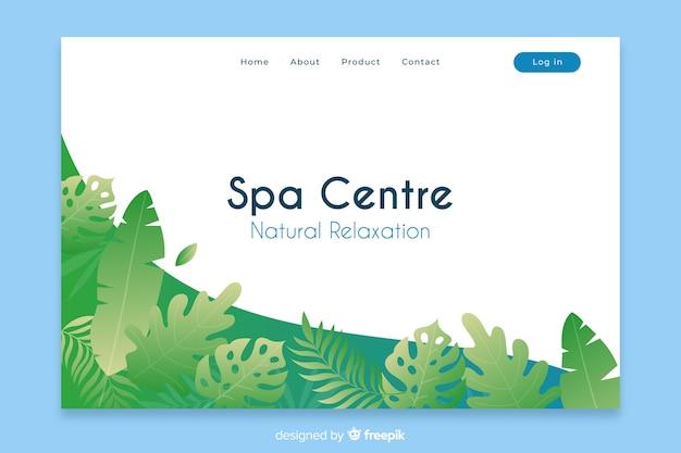 Pagina di destinazione spa con elementi naturali