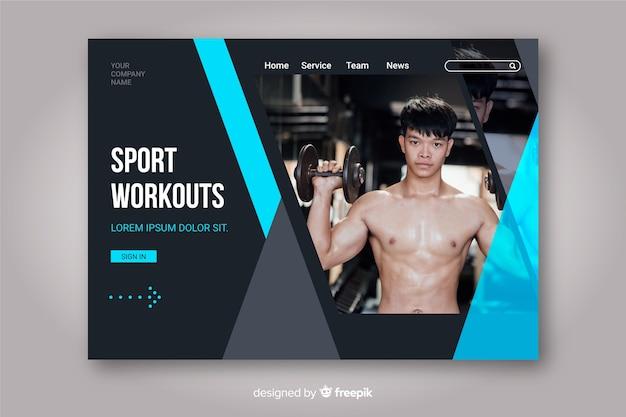 Pagina di destinazione sport allenamenti