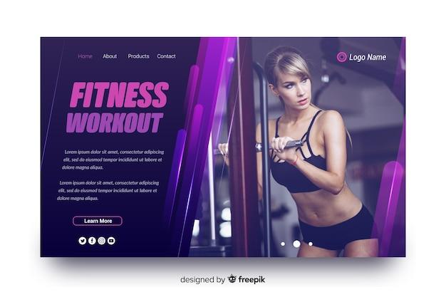 Pagina di destinazione sport allenamento fitness