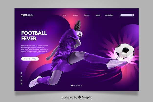 Pagina di destinazione sport con immagine