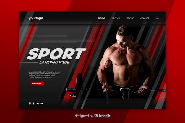Pagina di destinazione sportiva con foto