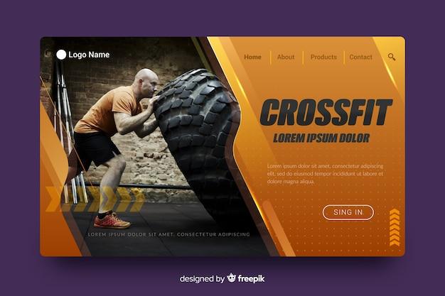 Pagina di destinazione sportiva crossfit