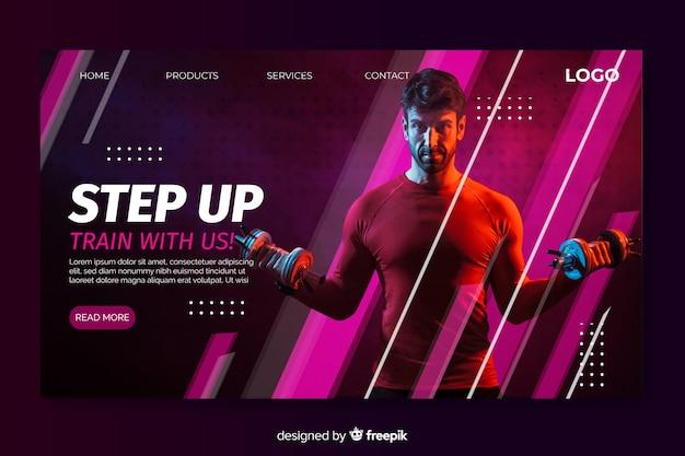 Pagina di destinazione step-up sportiva