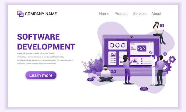 Pagina di destinazione sviluppo software e programmatori