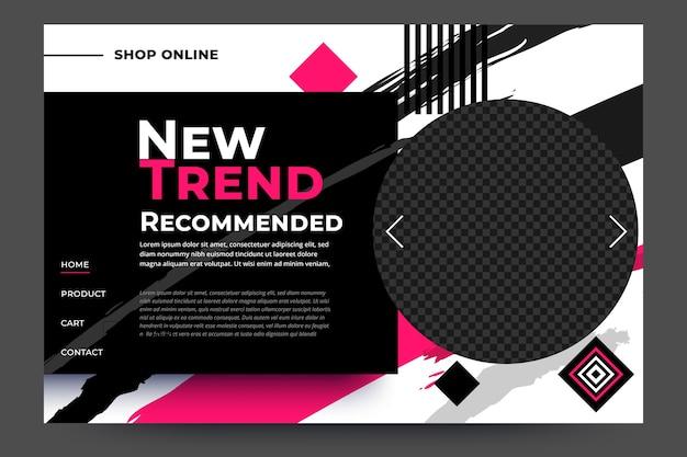 Pagina di destinazione vendita di moda nuova marca