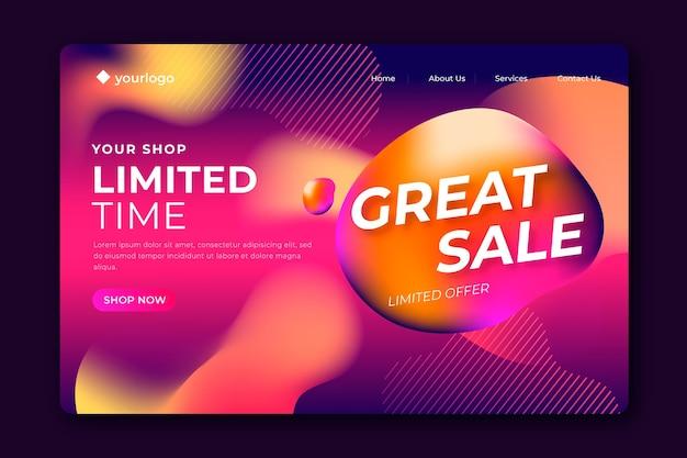 Pagina di destinazione vendite astratte modello