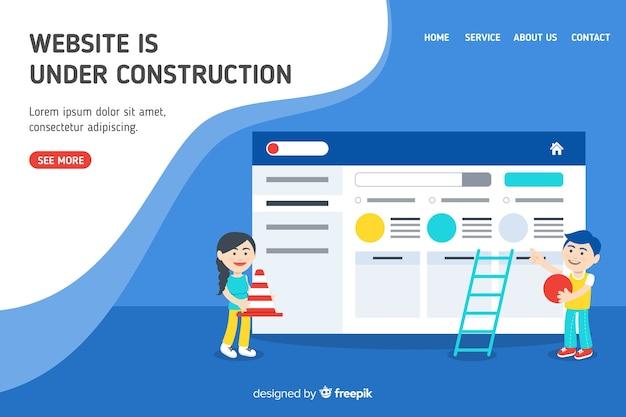 Pagina di destinazione web in costruzione
