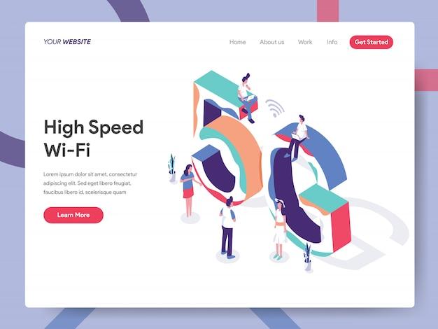 Pagina di destinazione wi-fi ad alta velocità
