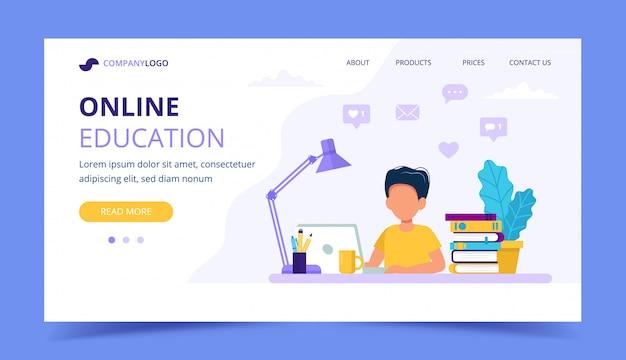 Pagina di formazione online per bambini.