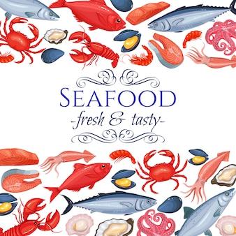 Pagina di frutti di mare
