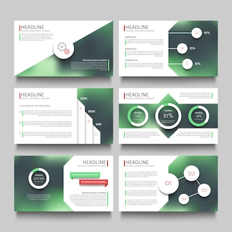 Pagina di titolo e depliant grafico per illustrazione di presentazione