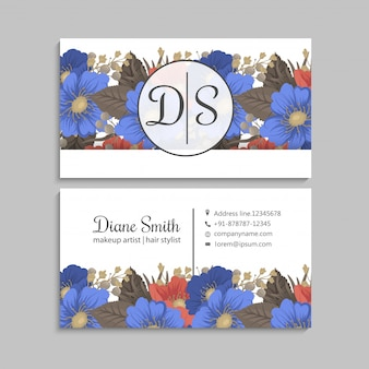 Pagina fiore fiori blu e fiori rossi
